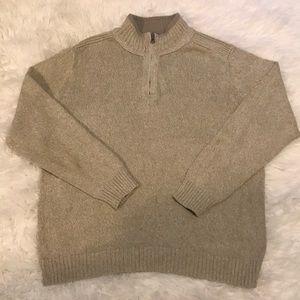 Docker Men's Tan Collard Pullover Sweater LARGE